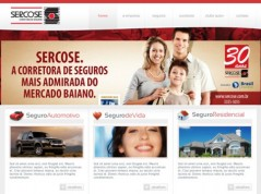 Redesign of the Sercose's website